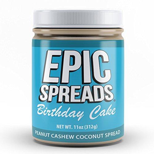 Epic Spreads Nut Butter (Birthday Cake Peanut Cashew Coconut) Cashew Nut Cake