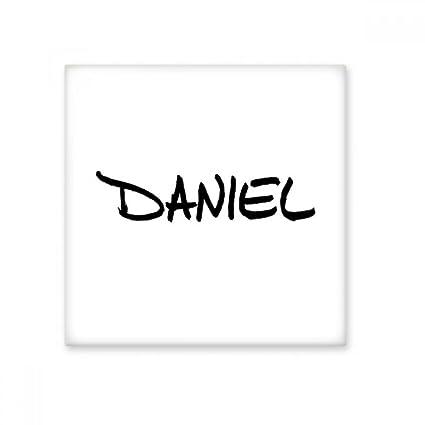 Special Handwriting English Name Daniel Ceramic Bisque Tiles