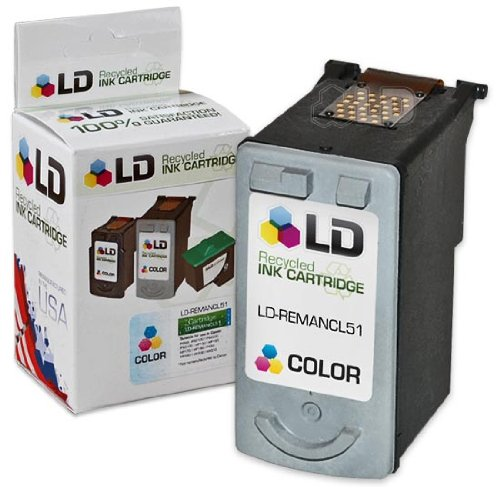 LD © Canon CL51 High Capacity Color Remanufactured Inkjet - 51 Cl Capacity High Color