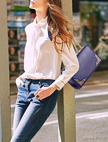 Borsette spalla Messenger Vino da a Blu polso Donna DEERWORD Borse Borse mano a Rosso Borse qz1wA1F