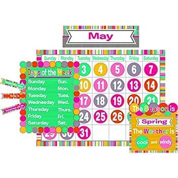 Tropical Punch Calendar Bulletin Board Teacher Created Resources 2685