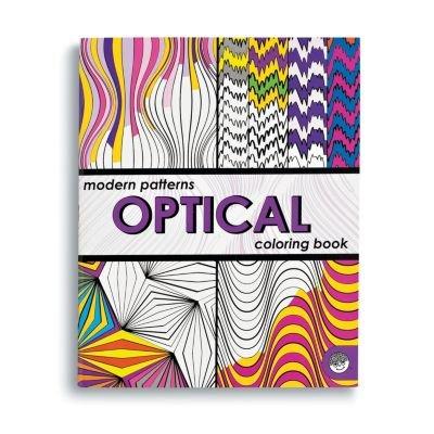 Modern Patterns Optical Coloring Book (MindWare)