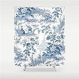 Blue Toile Shower Curtain I Like Exercise Powder Blue Chinoiserie Toile Shower Curtain 60