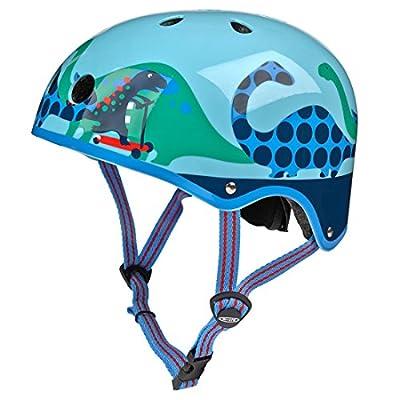 Micro Blue Scootersauras Helmet - Small (48-53cm)