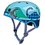 Micro Blue Scootersauras Helmet – Small (48-53cm)