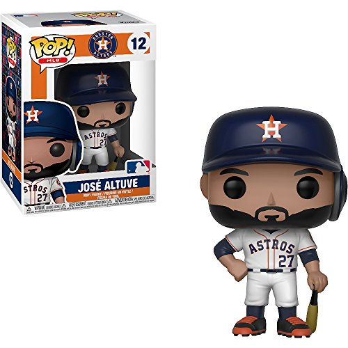 José Altuve [Houston Astros]: x Funko POP! MLB Vinyl Figure & 1 POP! Compatible PET Plastic Graphical Protector Bundle [#012 / 30235 - B] ()