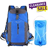 OXA 40L Hiking Backpack Hydration Backpack with 2 L Water Bladder, for Outdoor Camping, Hiking, Travel, Rain Cover Included (Blue)