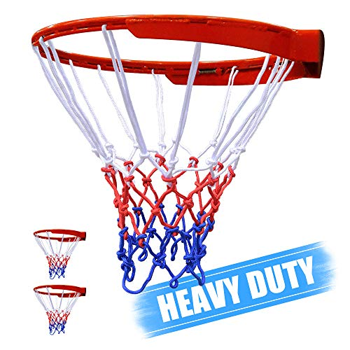KULAERME Basketball Net Replacement Outdoor Heavy Duty All Weather for Basketball Hoop Professional Standard Indoor with 12 Loop Rims