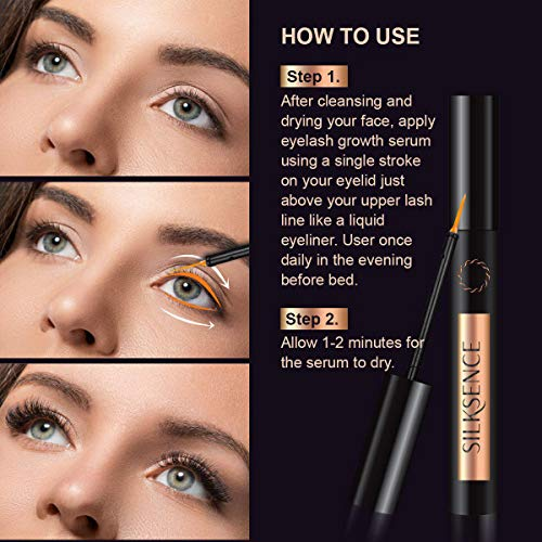 Silksence Eyelash Growth Serum for Lash and Brow Irritation Free Formula 5ML