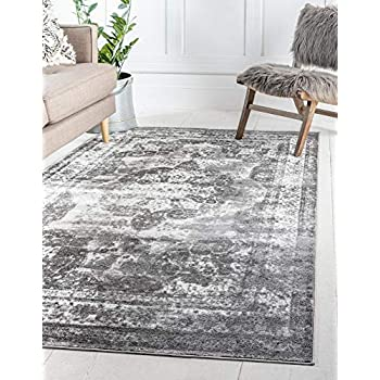 Unique Loom 3134092 Sofia Collection Traditional Vintage Gray Area Rug (5' 0 x 8' 0), Rectangle