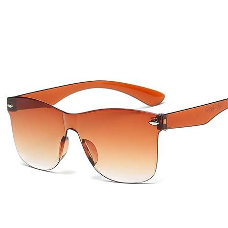 Naranja Irritable Nuevas Gafas de Sol Transparentes Mujer ...