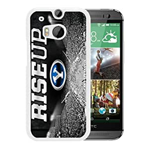 HTC ONE M8 Case,NCAA Independents BYU Cougars 3 White For HTC ONE M8 Case