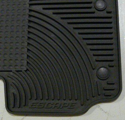 Oem Factory Stock 2011-2012 11 12 Black Ford Escape Weather Rubber Vinyl Floor Mats by Ford (Image #2)