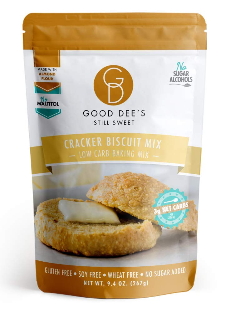 Good Dee's Cracker Biscuit Mix - Low Carb, Keto Friendly, Diabetic Friendly, Sugar Free, Gluten Free by Good Dee's