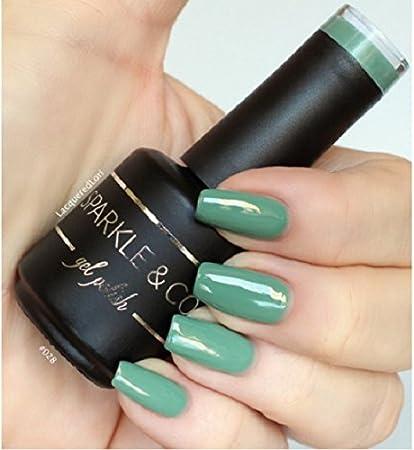 Amazon.com : Sparkle & Co. Gel Color 028 Solid Sage Green Soak Off ...