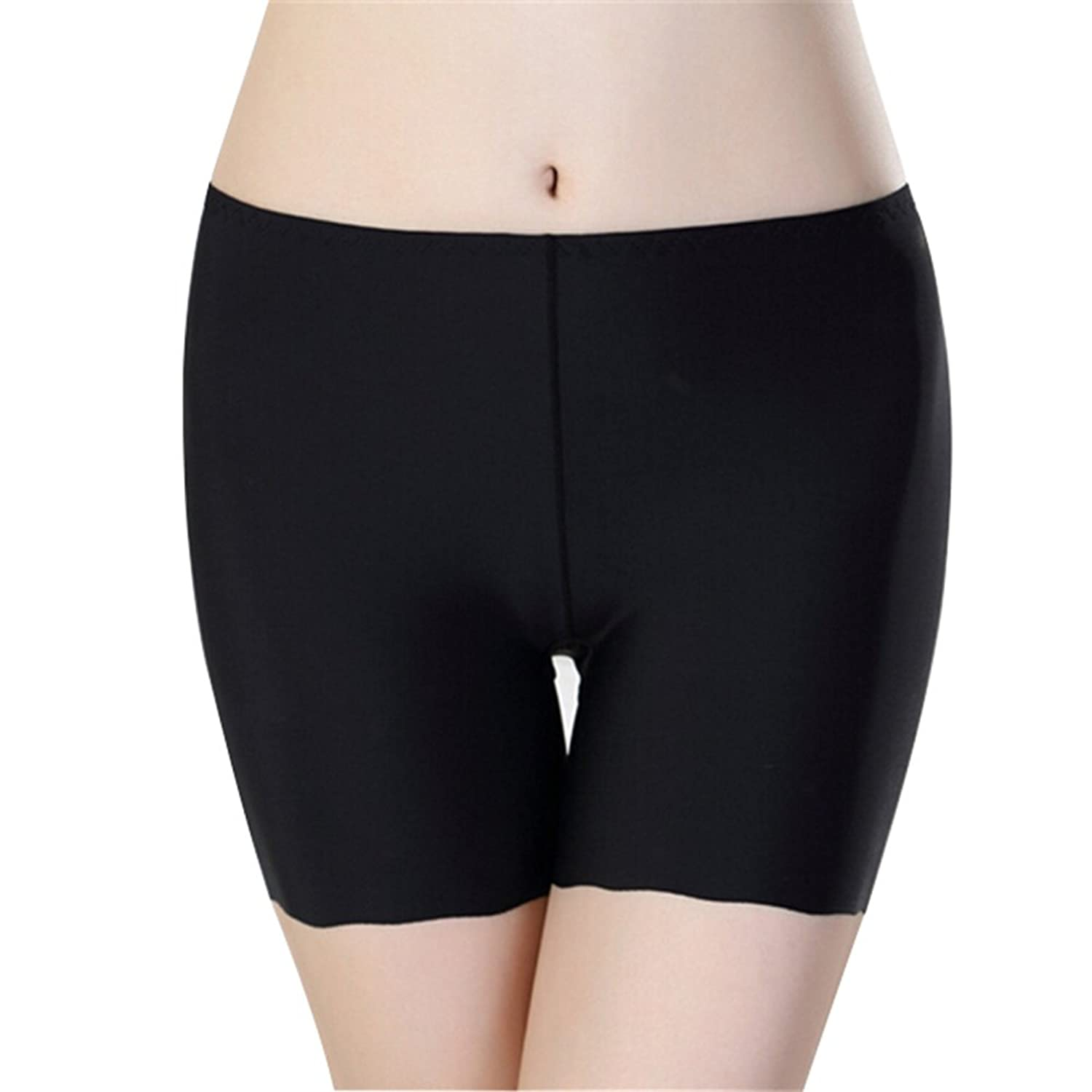 Hottong Women's Ice Silk Seamless Stretchy Boy Shorts Safety Panty Underwear
