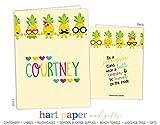 Rainbow Pineapple 2 Pocket Folder Gift Name Back to School Supplies Teacher Office Birthday Girl Kids Custom Personalized Custom