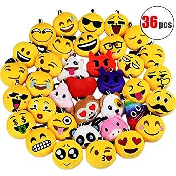 Amazon.com: Llaveros Emoji, accesorios para fiestas de ...