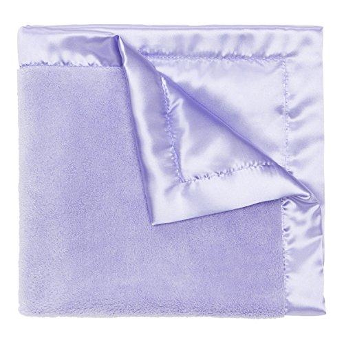"""UPC 077539877007, Elegant Baby Ultra Plush Microfiber, Satin Border Blankie, Lavender, 20"""" X 20"""""""