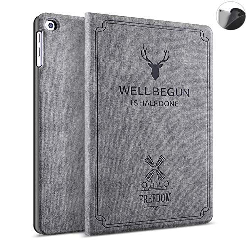 ProElite Deer Flip case Cover for Samsung Galaxy Tab A7 10.4″ SM-T500/T505/T507 (Grey)
