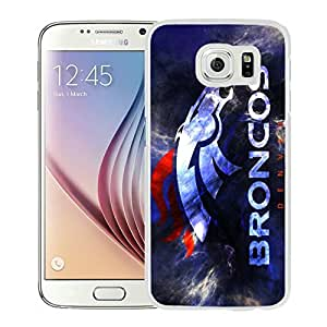 Fashionable and Newest Samsung Galaxy S6 Cell Phone Case Design with denver broncos in White