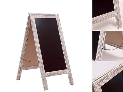 Pizarra de Pie de Madera / Tablero de pavimento / caballete del pavimento / doble cara / W50 x H100cm