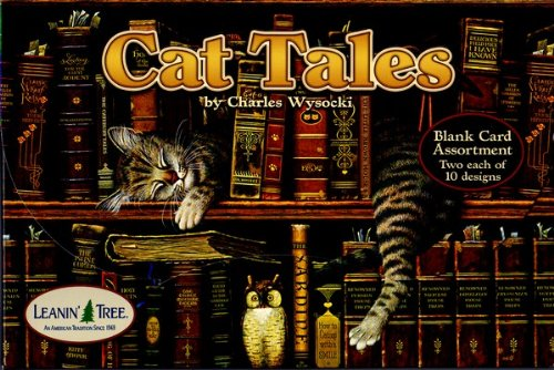 Cat Tales by Charles Wysocki [AST90737] Leanin Tree Cat Blank Deluxe Cards - 20 Greeting Cards with Full-color Interiors and Designed Envelopes