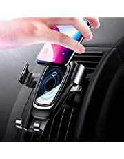 CoolMi Wireless Car Phone, Qi 10W Fast Wireless Car Air Vent Mount Holder Cradle for Samsung Galaxy S9/S9+/S8/S8+/S7/S6 Edge+/Note 8/Note 5, Qi Wireless Standard for Apple iPhone 8/8 Plus/X