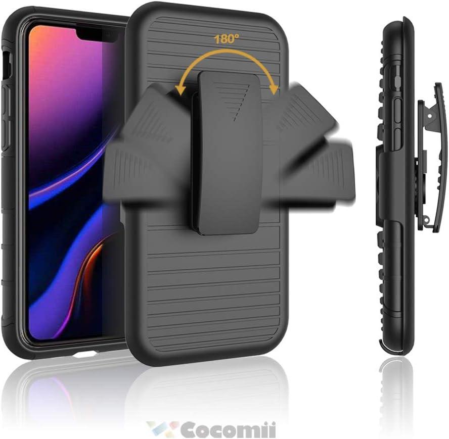 Black Schlank Matte St/änder Drehbares G/ürtelclip Ringgriff Magnetische Autohalterung Case Bumper Cover for iPhone 11 6.1 Inch 2019 Cocomii Symmetry Belt Clip iPhone 11 H/ülle