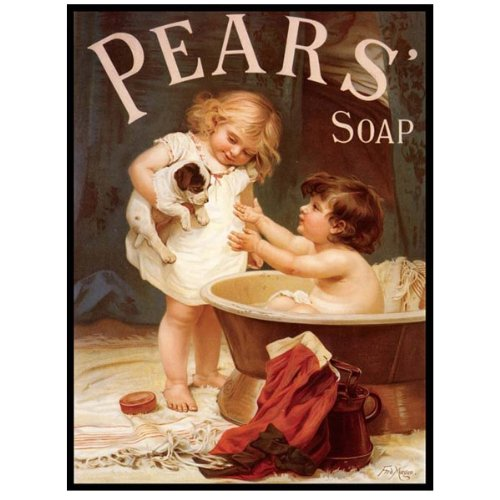 Pears Soap Metal Sign: Soap, Laundry, and Bathroom Decor Wall - Bathroom Decor Sign
