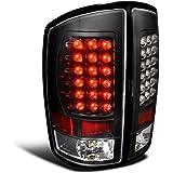Spec-D Tuning LT-RAM02JMLED-TM Dodge Ram 1500 2500 3500 Black Led Tail Lights