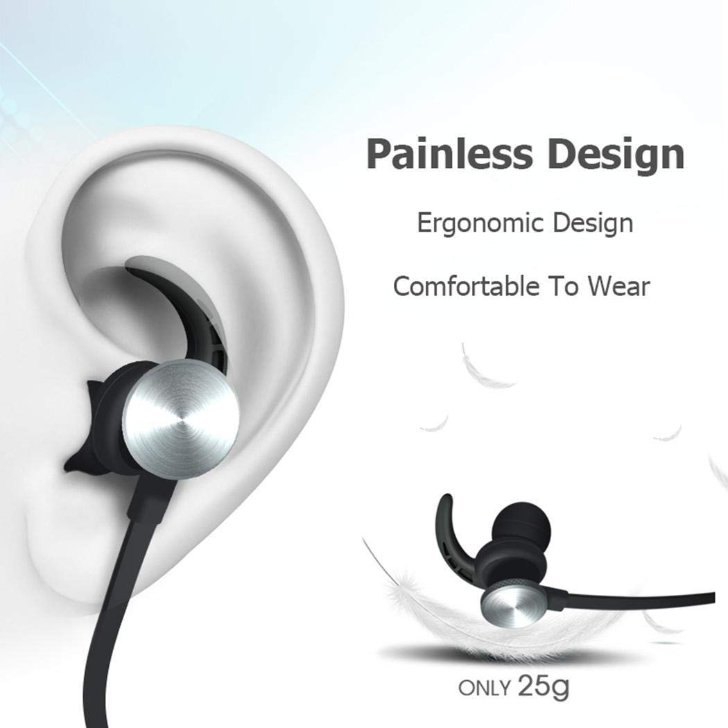 wareg Bluetooth Stereo Earphone Headset Wireless Magnetic Earbuds Headphones