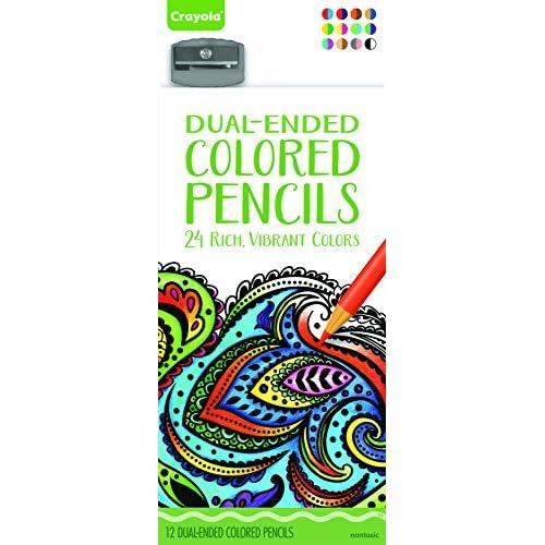 Crayola 68-6812.0030 -Coloriage pour Adultes - Boîte de 12 Crayons de Couleur Double Pointe