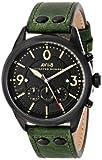 AVI-8 Men's AV-4024-04'Lancaster Bomber' Stainless Steel Watch with Green Leather Band