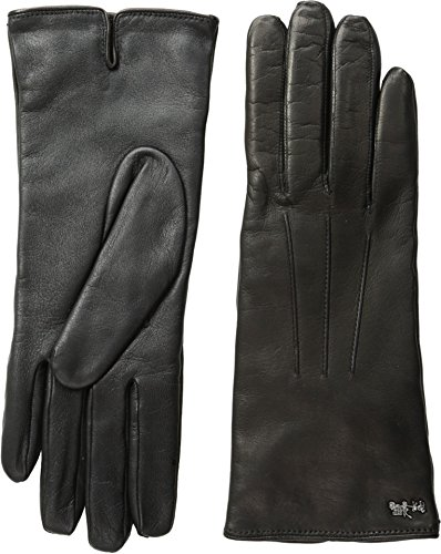 COACH Womens Leather Gloves Black