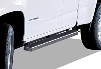 6 Side Steps Drop Down Style Nerf Bars Black APS Running Boards Custom Fit 2015-2018 Chevrolet Colorado Extended Cab; 2015-2018 GMC Canyon Extended Cab