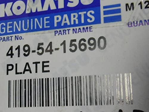Komatsu Genuine Parts 419-54-15690 Adjustment Plate: Amazon com
