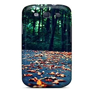 Fashionable TbcKHmd3649NEHwc Galaxy S3 Case Cover For Leaves On The Road Protective Case
