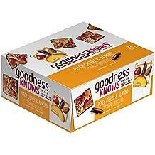 goodnessKNOWS Peach, Cherry, Almond & Dark Chocolate Gluten Free Snack Square Bars 12-Count Box