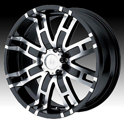 "Helo HE835 Gloss Black Machined Wheel - (20x9""/8x6.5"")"