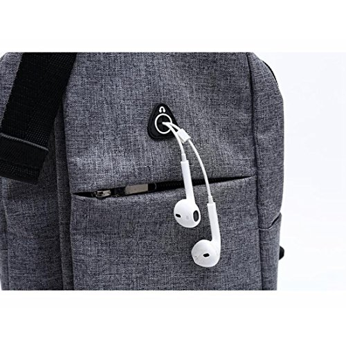 Mochila color Mujeres Gray Hombres Gray Felicioo De Bag Para Shoulder Sling Viaje Backpack Chest Crossbody Light qFP7RSYwx