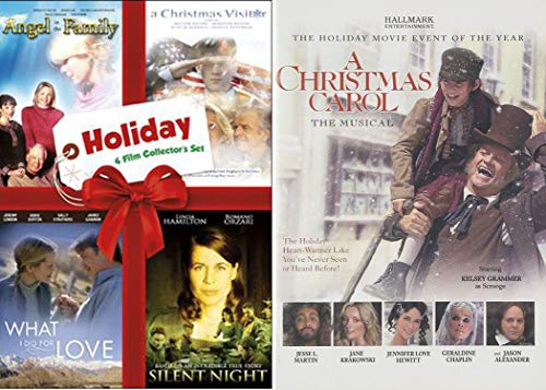 Movie Event Musical A Christmas Carol Hallmark DVD + What I Did For Love / Silent Night / Christmas Visitor & Angel in the Family (Evergreen & Hearth Home)