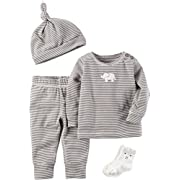 Carter's Baby 4 Piece Elephant Take Me Home Set Newborn