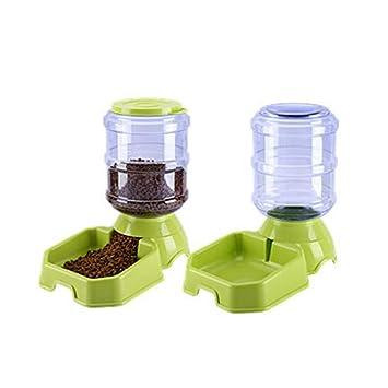 Alimentador de alimentos para mascotas automático portátil y conjunto de agua Alimentador de suministro de viaje