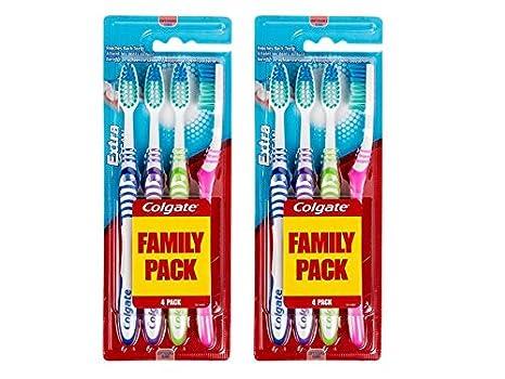 Colgate - Cepillo de dientes extra limpia con cerdas suaves Paquete de 2: Amazon.es: Salud y cuidado personal