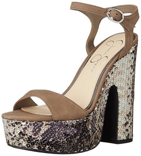 Fancy Jessica Simpson Women's Whirl Platform Dress Sandal, Taupe, Medium Slater Taupe