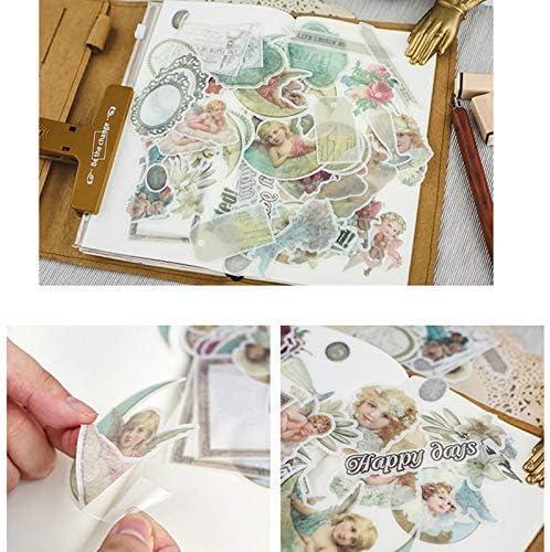 64Pcs Vintage Muster Notizbuch Aufkleber Fotoalbum Sticker DIY Handbuch Tagebuch Dekoration Sticker (Style 1)