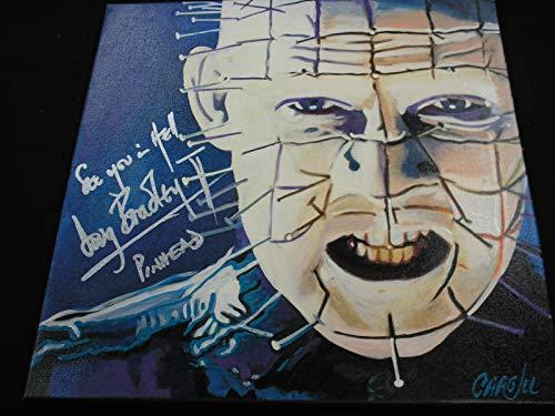 DOUG BRADLEY Signed Pinhead Original Painting Hellraiser Autograph RARE (Hellraiser Autographed Poster)
