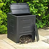 Wido Black 260L Garden Composter Box Weatherproof Plastic Eco Friendly Waste