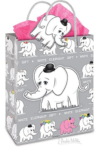 Accoutrements White Elephant Gift Bag